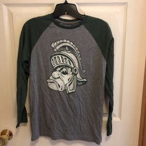Michigan State Spartans Raglan Shirt, Boys' XL